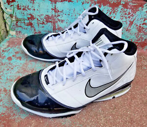 Details about Nike Air Max Turnaround Men's Basketball Shoes Size 12 White Black 386237 101