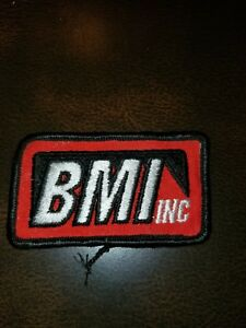 Vintage Bmi Inc Uniform Embroidered Advertising Patch 1970s Ebay