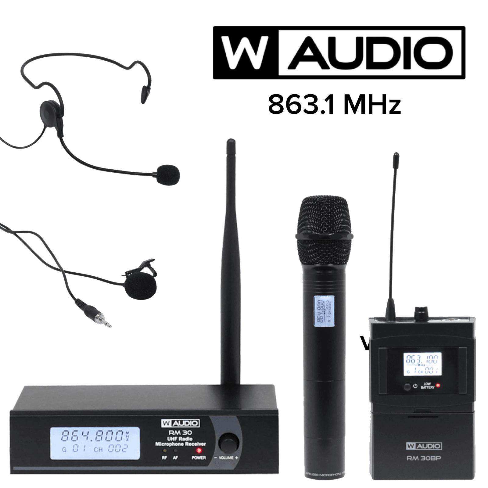 863.1Mhz//8 Prolight  W Audio   RM 30T Twin UHF Handheld Radio Microphone System