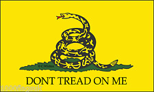 Gadsden Don't Tread On Me Sleeved Courtesy Flag ideal for Boats 45cm x 30cm