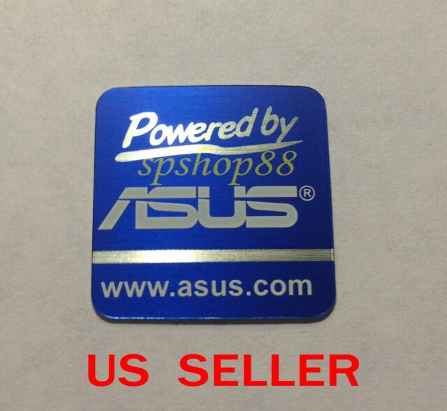 New Powered by Asus Logo Sticker For PC Case Badge  < 20 X 20mm >