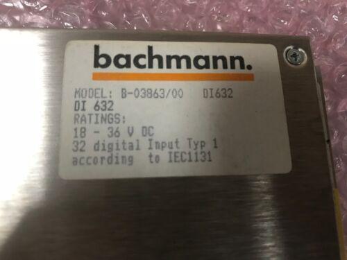 BACHMANN B-03863//00 DI632 MODULE CARD ***USED*** 1 Piece
