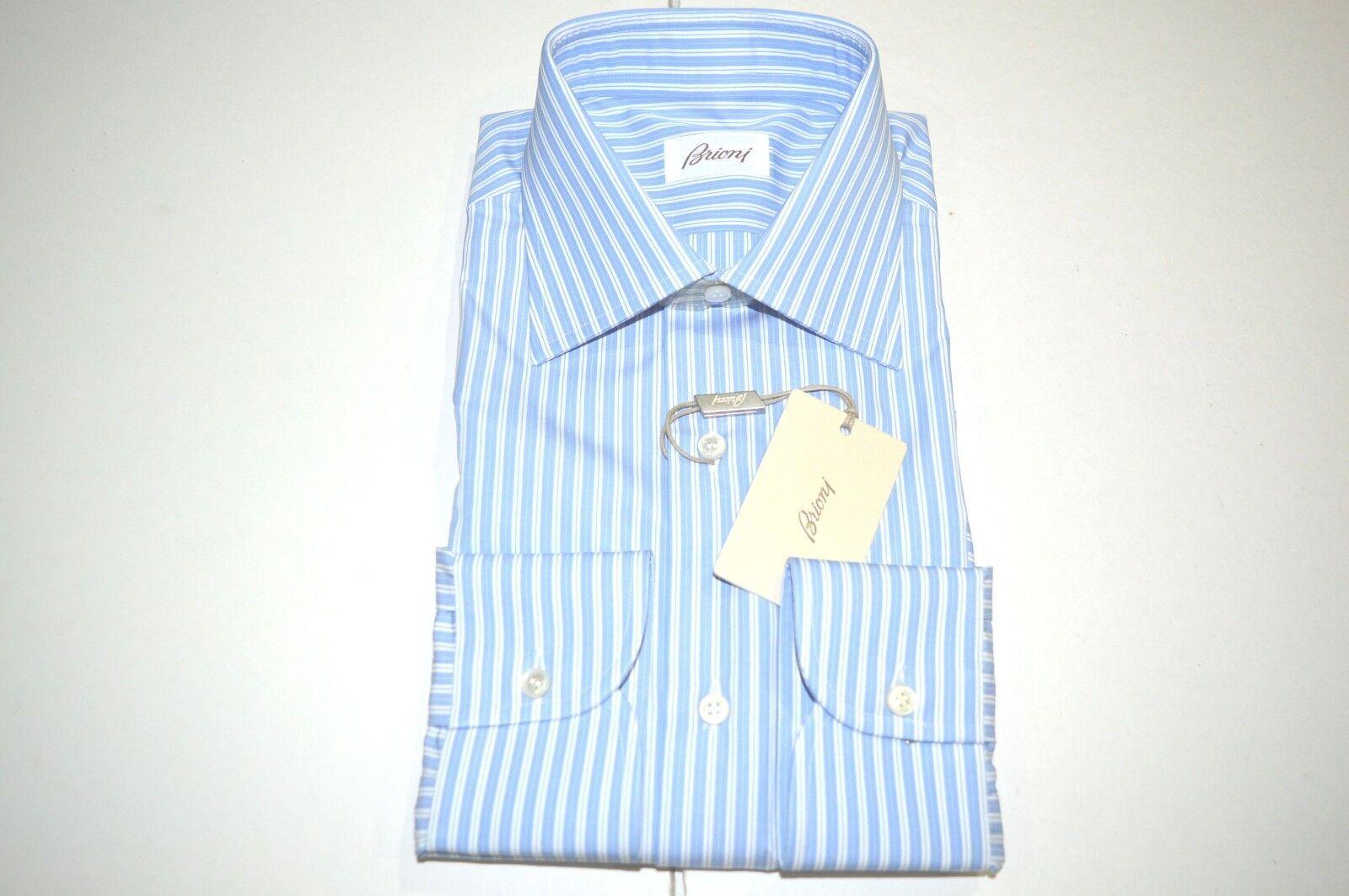 NEW  BRIONI Dress SHIRT 100% Cotton Size 16  Us 41  Eu (Store Code B16)