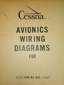 Miraculous Avionics Wiring Diagrams For Cessna 402B Sn 0367 Ebay Wiring 101 Vieworaxxcnl
