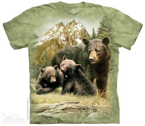 Sizes S-XL Youth NEW Black Bear Family Kids T-Shirt by The Mountain