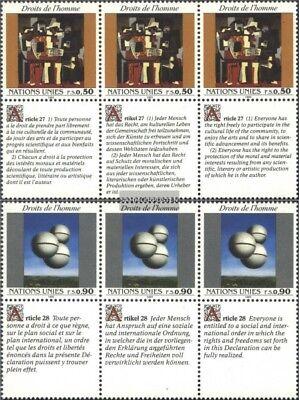 Uno-genf 233-234 Sechserblocks kompl.ausg. Postfrisch 1993 Menschenrechte
