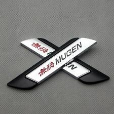 Pair Black Metal Fender Mugen Emblem Logo Side Wing Sports Badge Car Sticker Fits 2012 Honda Civic
