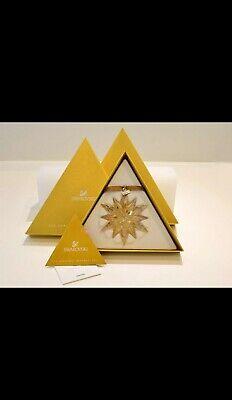 Swarovski 2011 SCS Gold Large Christmas Ornament BNIB | eBay