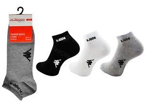 3-Paires-KAPPA-Homme-Officiel-Trainer-Liner-Chaussettes-De-Sport-Coton-Riche-adultes-6-11