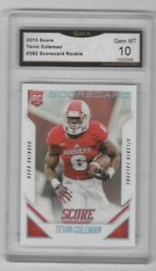Tevin-Coleman-2015-Score-Scorecard-Rookie-Falcons-49ers-GMA-Graded-GEM-MT-10
