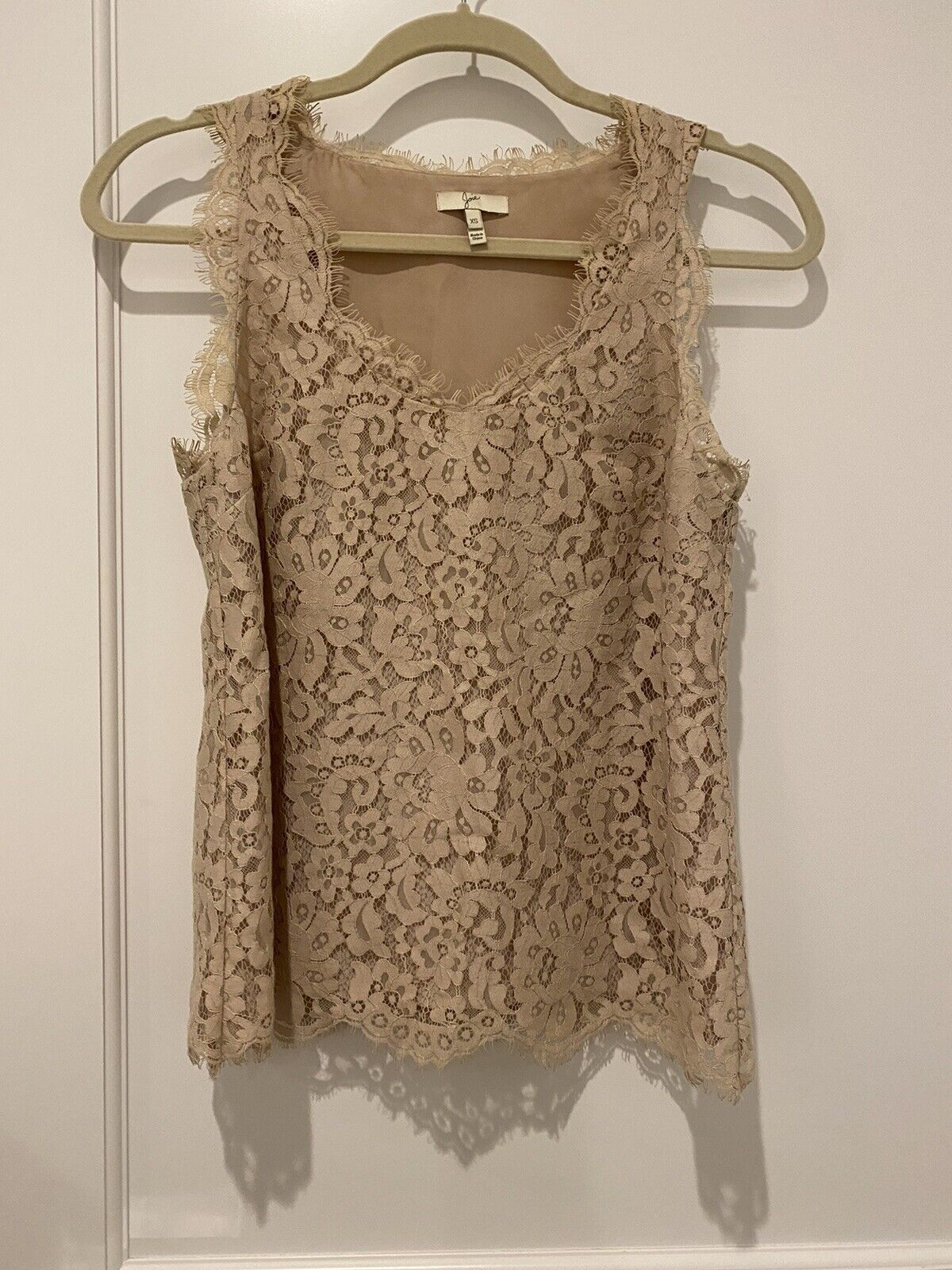 Joie dusty pink Lace Tank Top - image 1