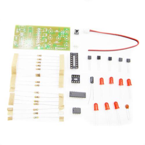 Electronic dice NE555 CD4017 kit 5mm Red led 4.5-5V ICSK057A DIY ASS