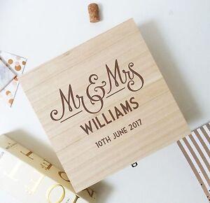 Details About Mr Mrs Wedding Box Wedding Keepsake Box Wedding Memory Box 32cms X 32cms