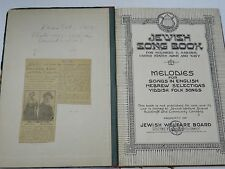 ANTIQUE JEWISH SONG BOOK FOR SOLDIERS & SAILOR UNITED STATE ARMY and NAVY