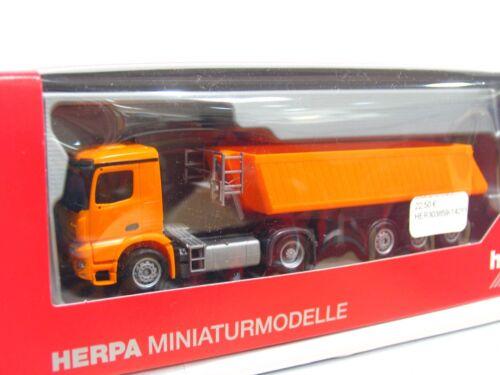 Herpa 1/87 303859 MB arocs m hinterkippersattelzug embalaje original (rb3999)