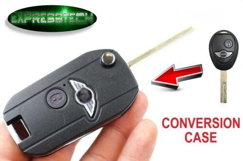CHIAVE GUSCIO 2 TASTI BMW MINI COOPER S ONE CONVERTE LA TUA CHIAVE IN FLIP COVER