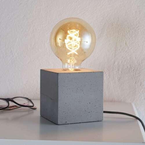 A++ Industriell Vintage Spot-Light Tischlampe /'Strong/' Tischleuchte Beton