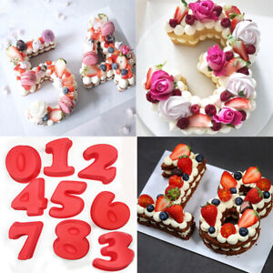 0-8 Number Silicone Cake Mould Pan Baking Tin Birthday Anniversary Mold Tools