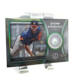 2020 Topps Tribute Lance McCullers Jr. Stamp Of Approval Relic Green #01/99