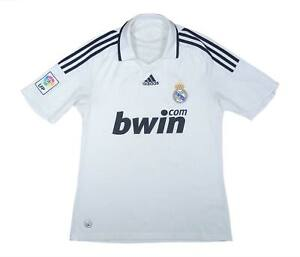 REAL MADRID 2008-09 Authentic Home Shirt (Fair) M SOCCER JERSEY
