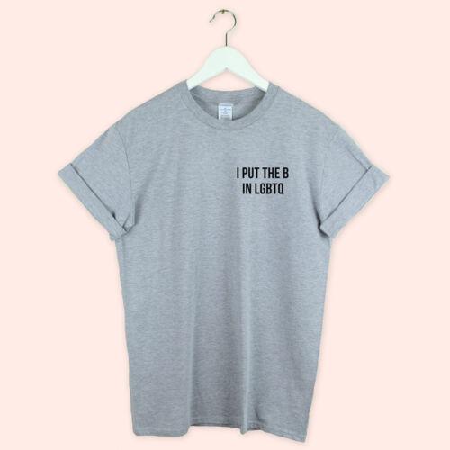 Bi Sexual Gay Pride Shirt Lgbtq Pride T Shirt Lesbian put b lgbt Gift love