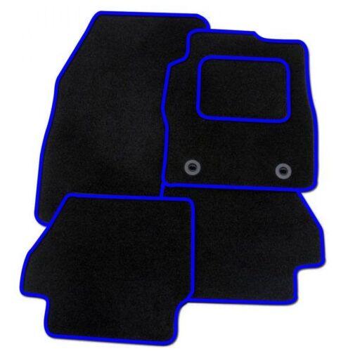 CITROEN C2 2003 a Medida Alfombra Alfombrillas De Piso Coche Negro Equipada Ribete Azul