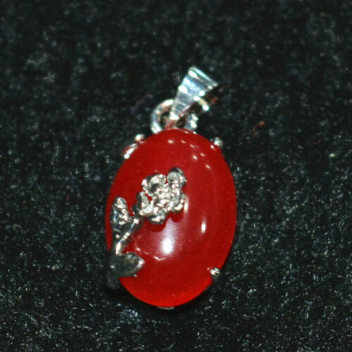 """Exquisite Beautiful 10x14mm red ruby Gemstone  Pendant Zinc Alloy  17 /"""""""
