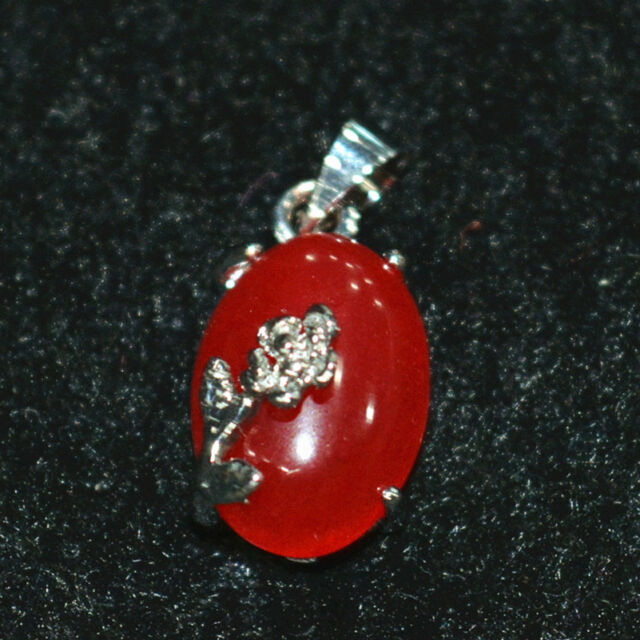 """New 10mm natural red ruby dolphin pendant zinc alloy 17 /"""""""