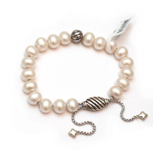 David Yurman Spiritual Bead Bracelet argent sterling avec Vert Onyx 8 mm