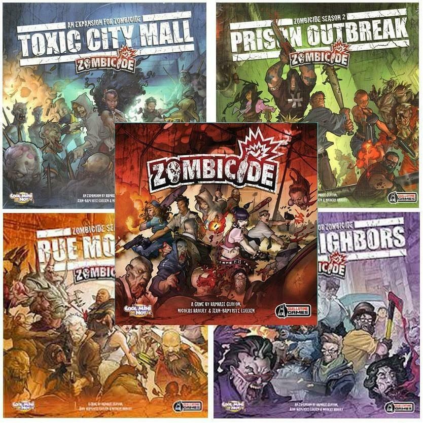 Zombicide - Core Game, Expansions & Accessories Multi-Listing - NEW - CMON