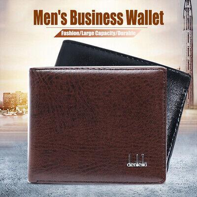New Fashion Men/'s Leather Business Wallet Pocket Card Clutch Bifold Slim Purse