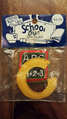 school days appliques ABC 123 (Kids Type Embroidered Iron On)