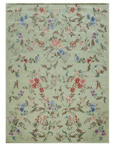 European-Country-Carpet-Victorian-Floral-Floor-Mat-Area-Rug-Carpet-Light-Green