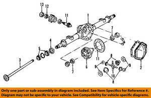 image is loading gm-oem-rear-axle-differential-pumpkin-cover-26067040