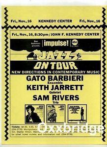 SAM-RIVERS-TRIO-Keith-Jarrett-Quintet-IMPULSE-Original-Jazz-Poster-1973-Barbieri