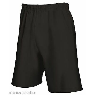 Fruit of the Loom Men's Lightweight Fleece Shorts in 3 Colours S M L XL XXL