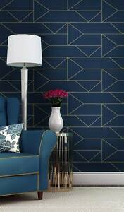 Image Is Loading Navy Geometric Vinyl Wallpaper Removable Self Adhesive Nursery