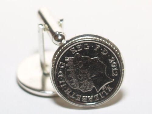 12th anniversario di matrimonio regalo di seta IN SCATOLA Gemelli Ricordo-MONETE DA 2007