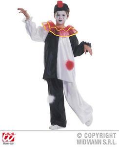 Childrens-Black-amp-White-Court-Jester-Fancy-Dress-Costume-8-10-Yrs