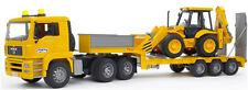 Bruder MAN TGA Low loader Kids Toy Truck w JCB Backhoe 02776 NEW SAME DAY SHIP