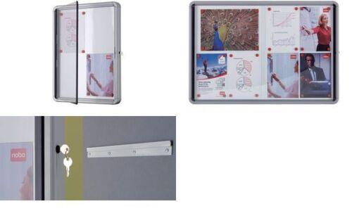 6 x DIN A4 nobo Schaukasten Metall-Rückwand Innenbereich