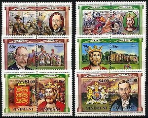St. Vincent 1984 SG#776-787 British Monarchs MNH Set #D35145