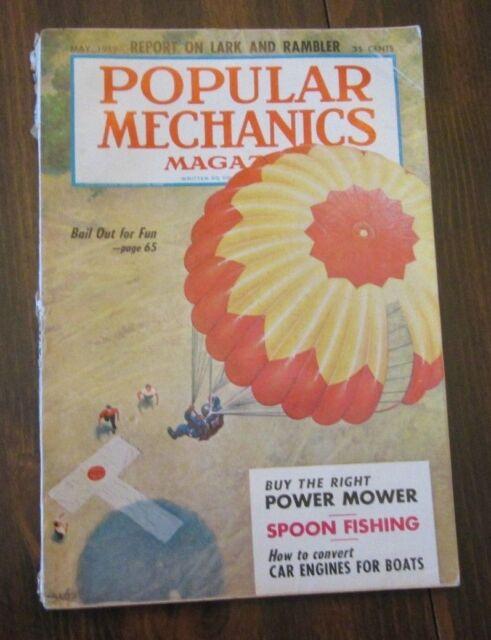 Popular Mechanics May 1959 Bail Out For fun Parachuting