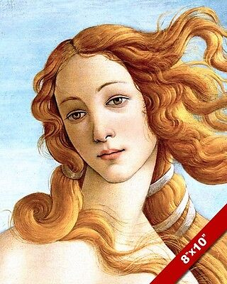 BIRTH OF VENUS GODDESS OF LOVE PAINTING REAL CANVAS GICLEE PRINT BOTTICELLI