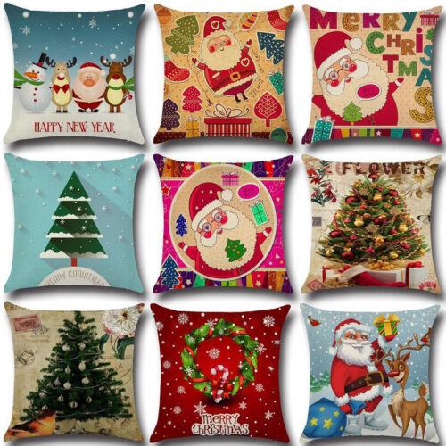 Christmas Xmas Santa Sofa Car Throw Cushion Pillow Cover Case Home Decor Cheap