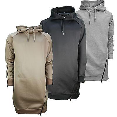 Mens Hoodie Long Fit Hooded Pull Over Sweatshirt New Men Casual Boys Jumper