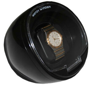 Diplomat-Watch-Winder-Black-Color-Single-Automatic-With-Built-In-IC-Timer