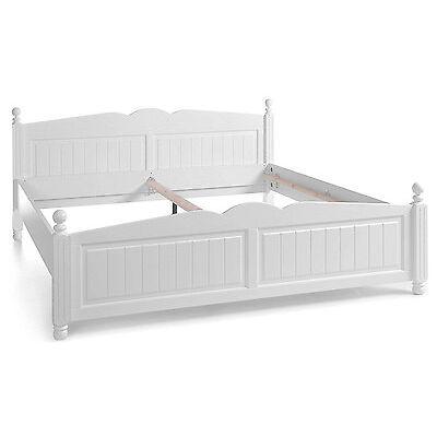 Schlafkontor Cinderella Landhaus Bett Doppelbett Bettgestell weiß 12 Größen