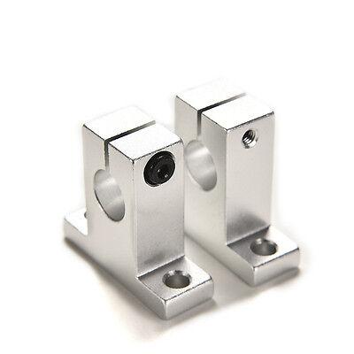 2Pcs SK12 12mm Bearing CNC Aluminum Linear Rail Shaft Guide Support Economic RM