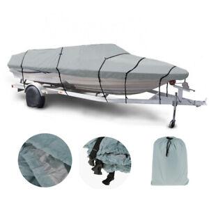 11/'/'-13/'/' 11 12 13ft  Waterproof Grey Heavy Duty Fish Ski Boat Speedboat Cover